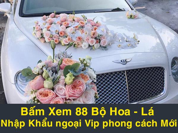 hoa xe cưới phong cách mới