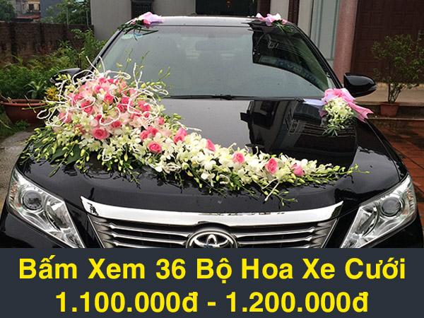 hoa xe cưới mẫu b