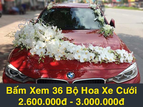hoa xe cưới mẫu f