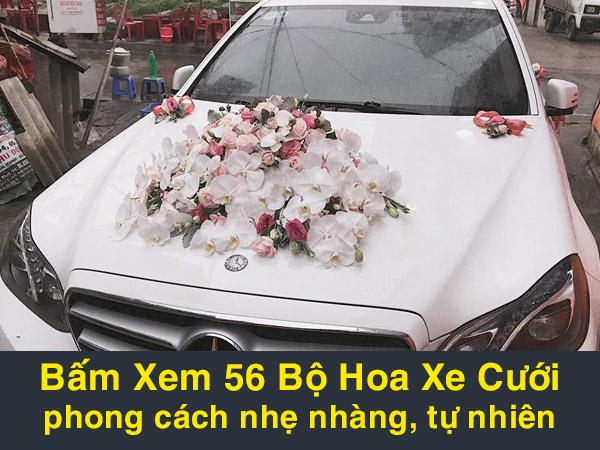 hoa xe cưới phong cách tự nhiên