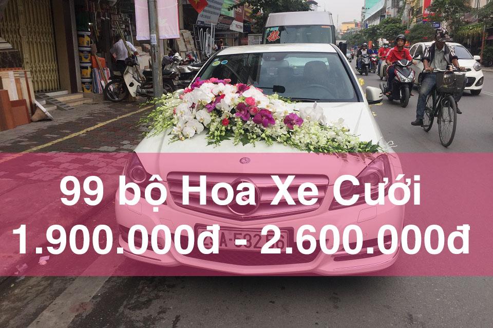 99 mẫu hoa xe cưới đẹp