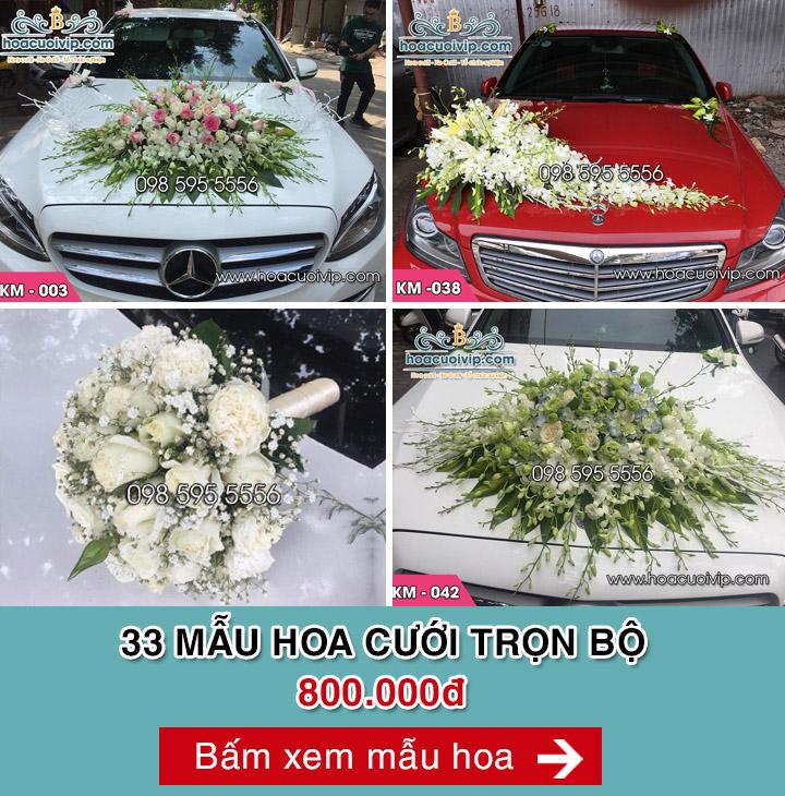 hoa cưới trọn bộ 800k