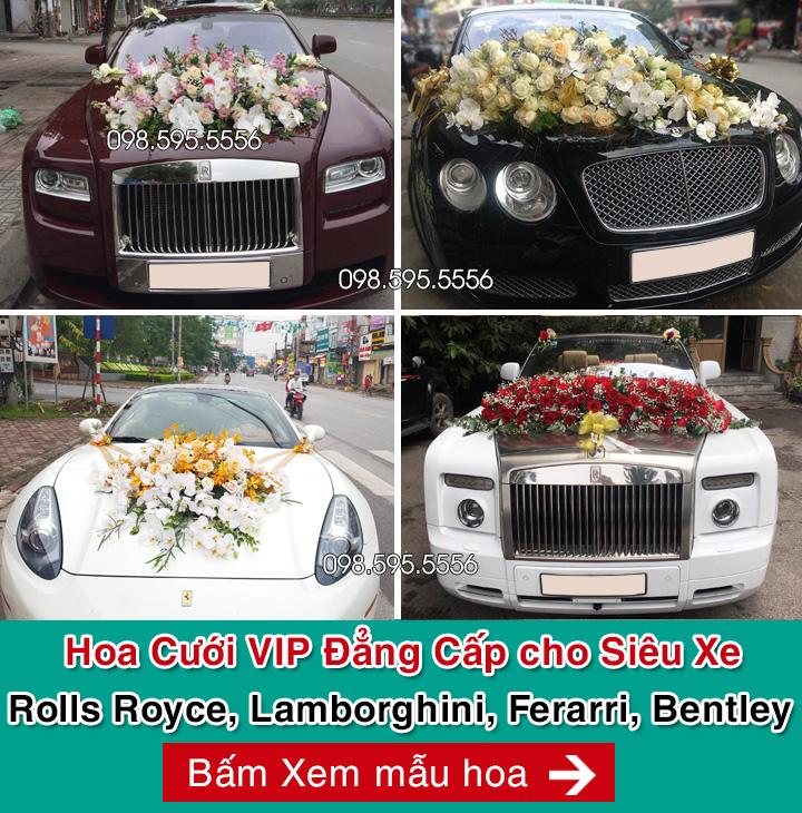 hoa cưới vip cho siêu xe