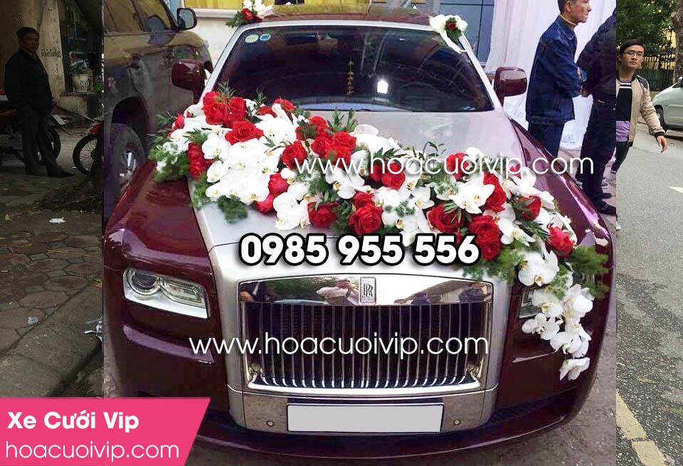 xe cưới rolls royce đỏ