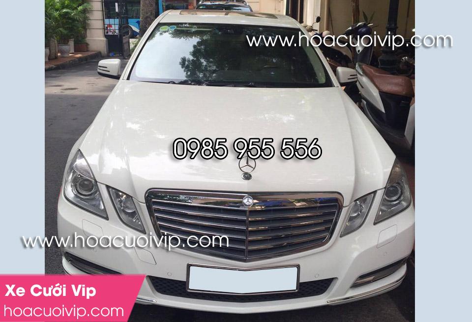 thuê xe cưới mercedes E350 2014 trắng