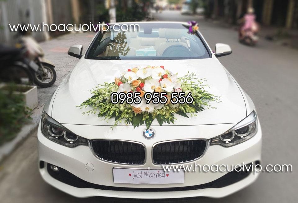 xe cưới bmw 420i mui trần trắng