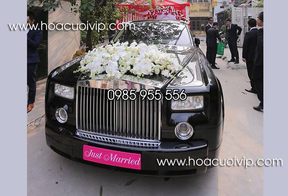 xe cưới rolls royce đen