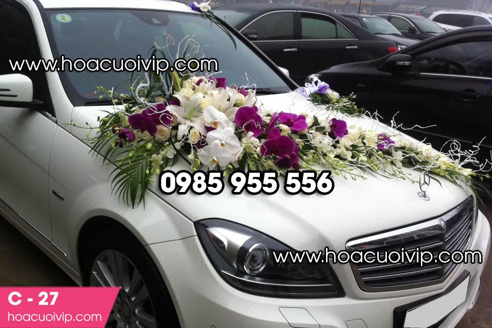 Hoa trang trí xe cưới tại hà nội