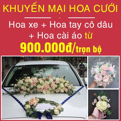 khuyến mại hoa cưới