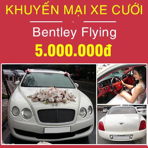 khuyến mại xe cưới bentley flying
