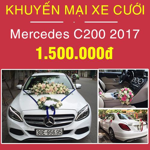 khuyến mại xe cưới mercedes c200