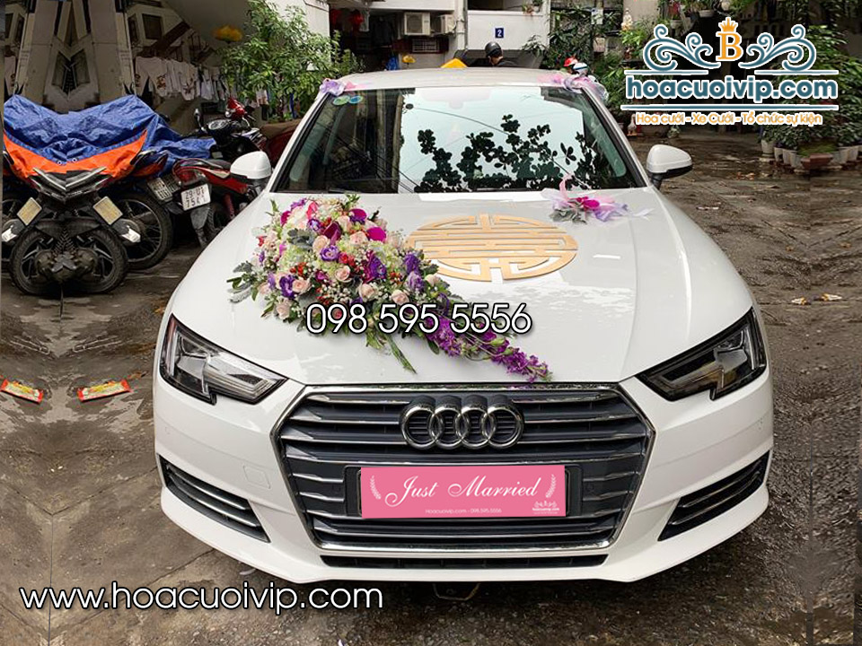 thuê xe cưới Audi A4 2018 màu trắng