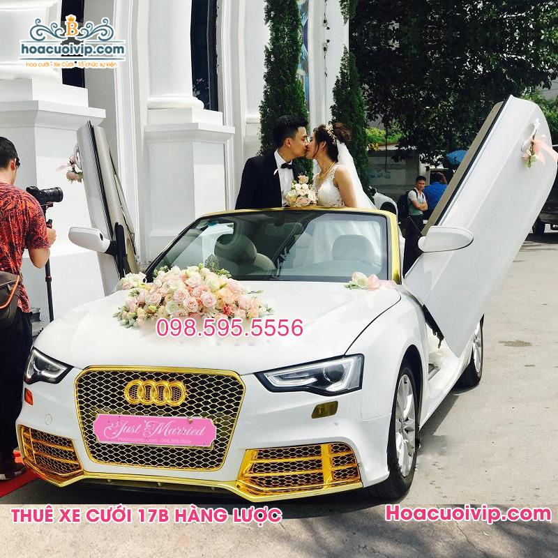 Thuê xe cưới Audi RS5 mui trần màu trắng