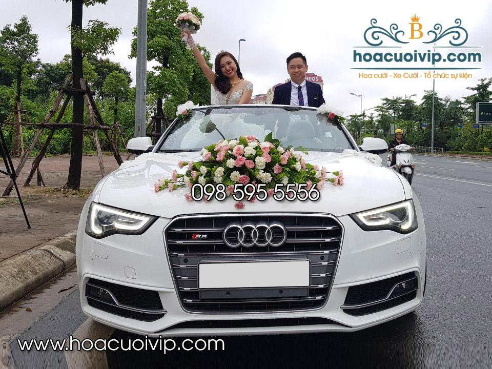 thuê xe cưới đẹp audi S5 mui trần trắng