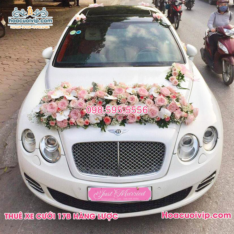 Thuê xe cưới bentley màu trắng