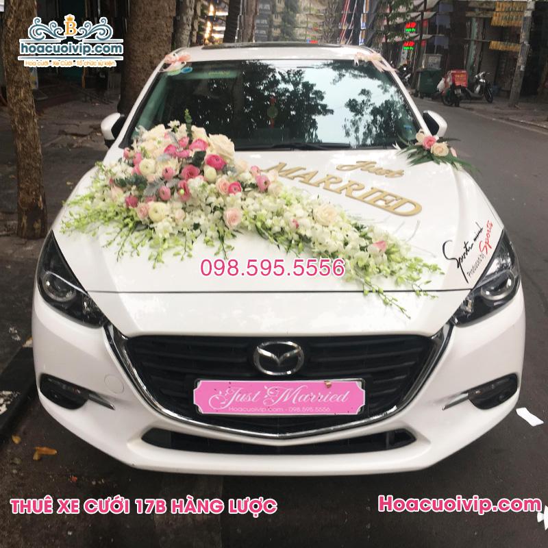 Thuê xe cưới Mazda 3 2017 2018 màu trắng