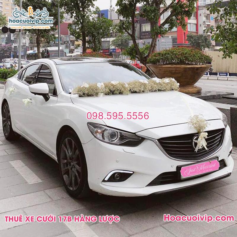 Thuê xe cưới Mazda 6 2017 2018 màu trắng