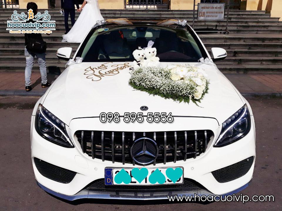 Thuê xe cưới Mercedes C300 AMG màu trắng