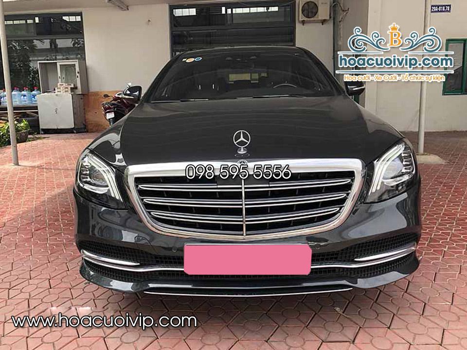 thuê xe cưới mercedes S450 2018 màu đen