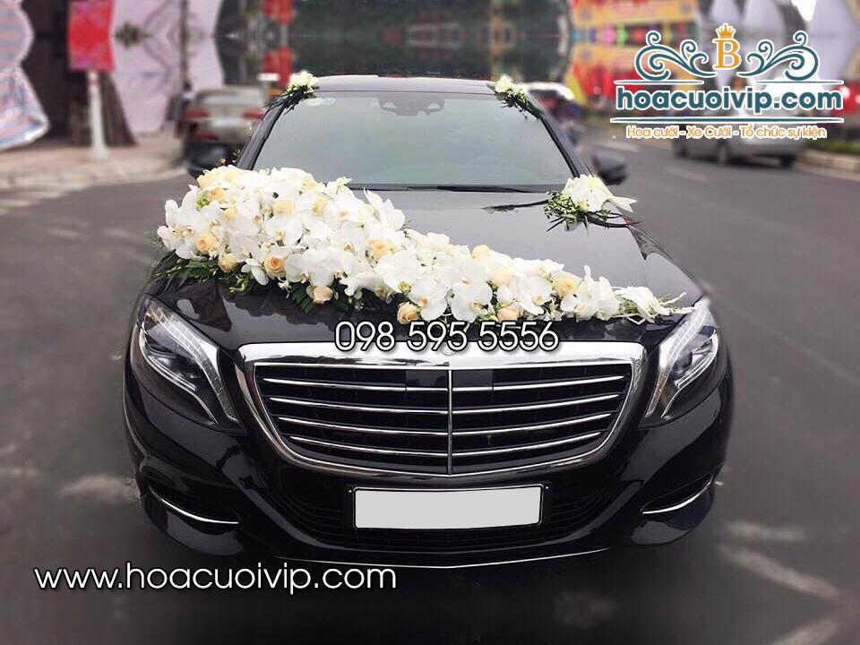 thuê xe cưới mercedes S500 đen 2017