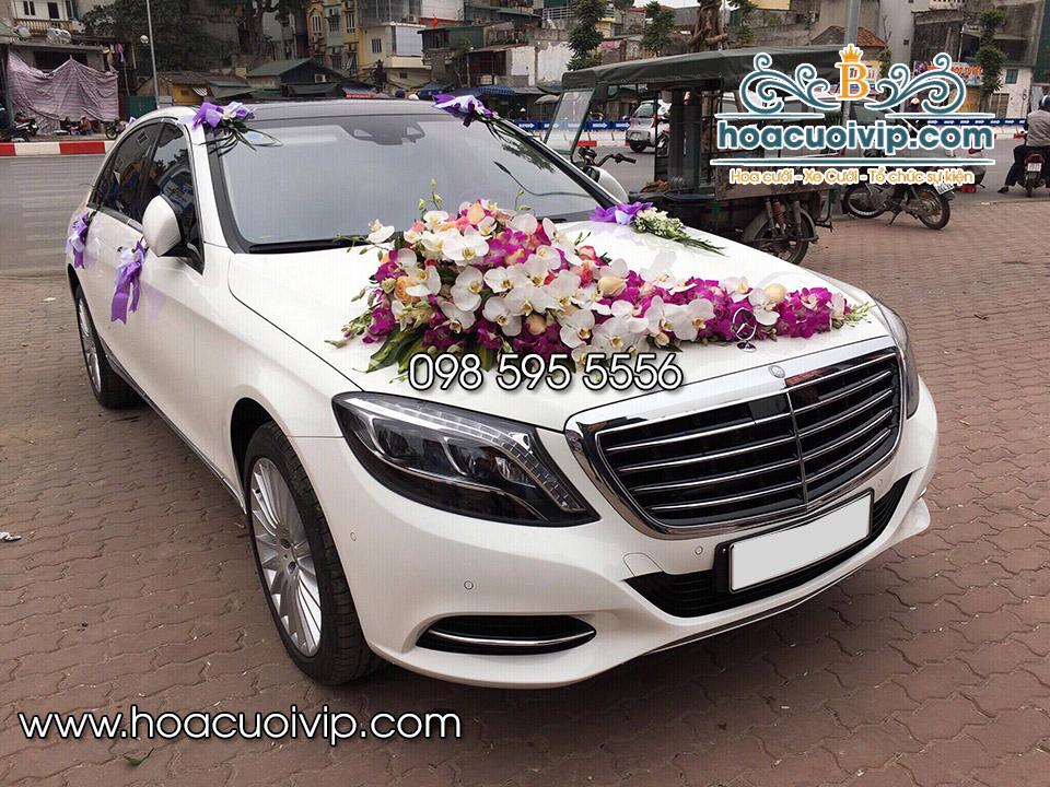 thuê xe cưới mercedes S500 trắng 2017
