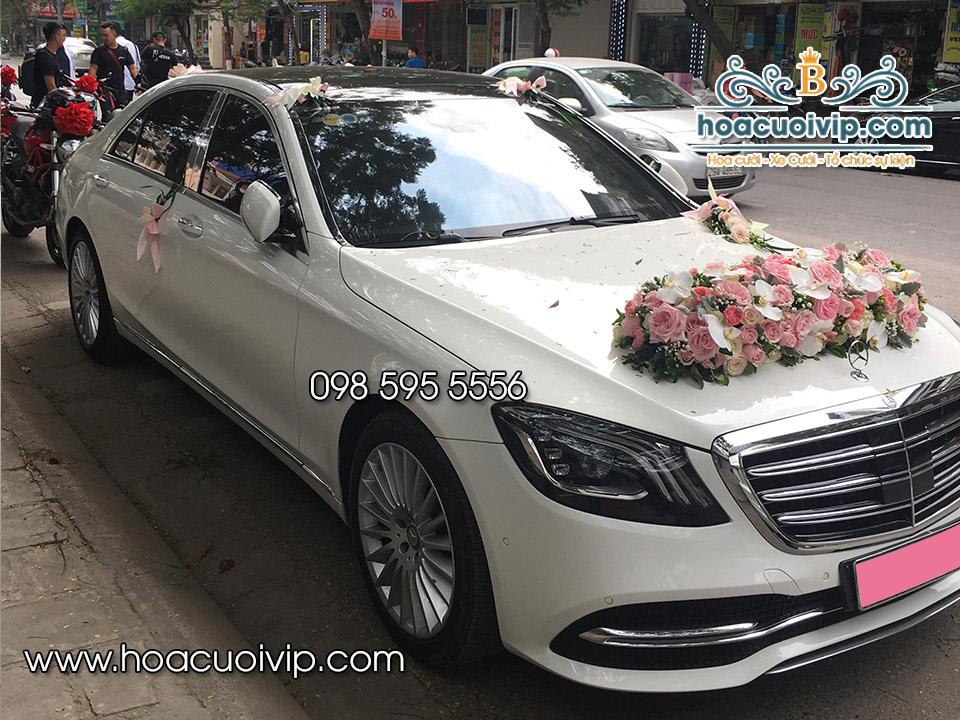 thuê xe cưới mercedes S560 2018 màu trắng