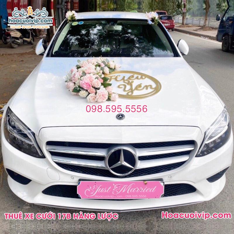 Thuê xe cưới Mercedes C250 trắng 2021