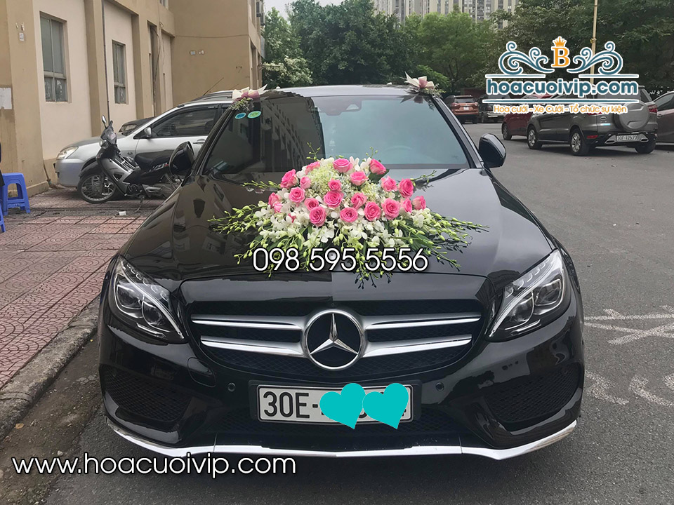 thuê xe cưới mercedes C300 2017 đen