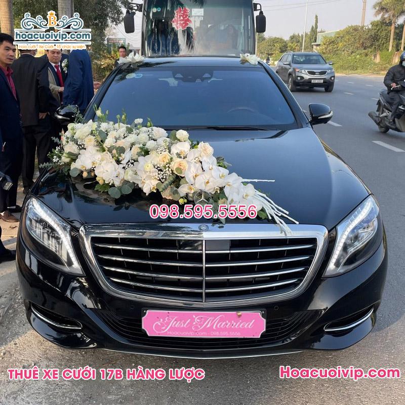 Thuê xe cưới Mercedes S400 màu đen 2018