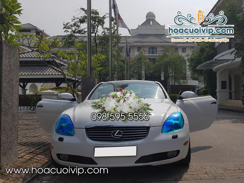 Xe cưới lexus SC430 mui trần trắng
