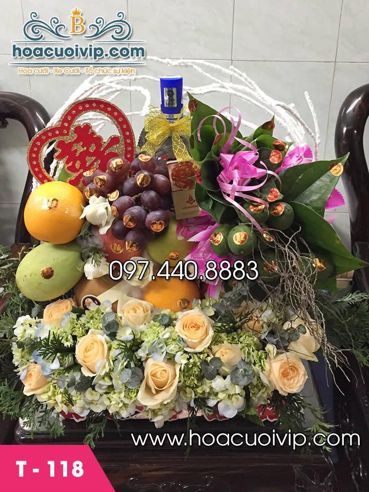 Lẵng hoa quả dạm ngõ