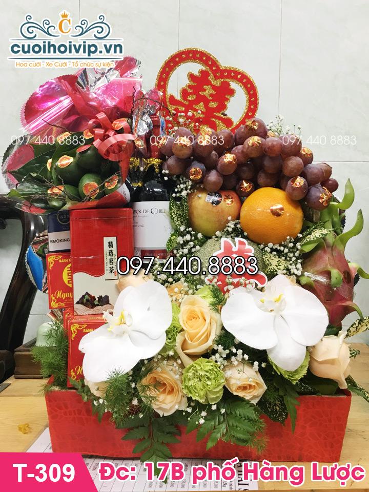 Lẵng hoa quả dạm ngõ đẹp