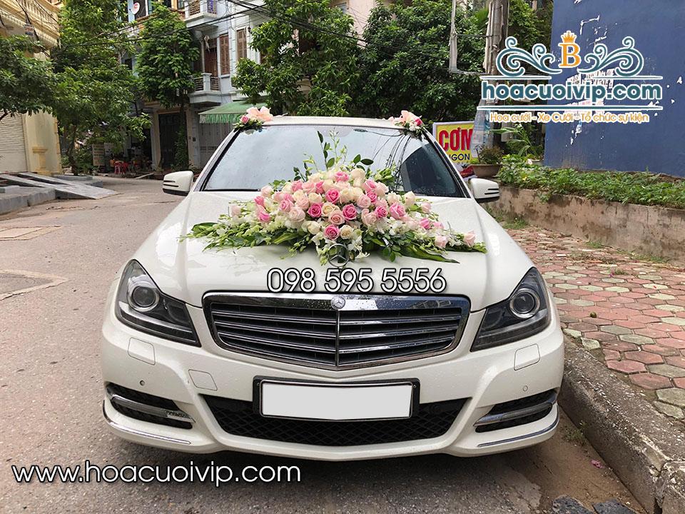 thuê xe cưới mercedes C300 trắng 2014