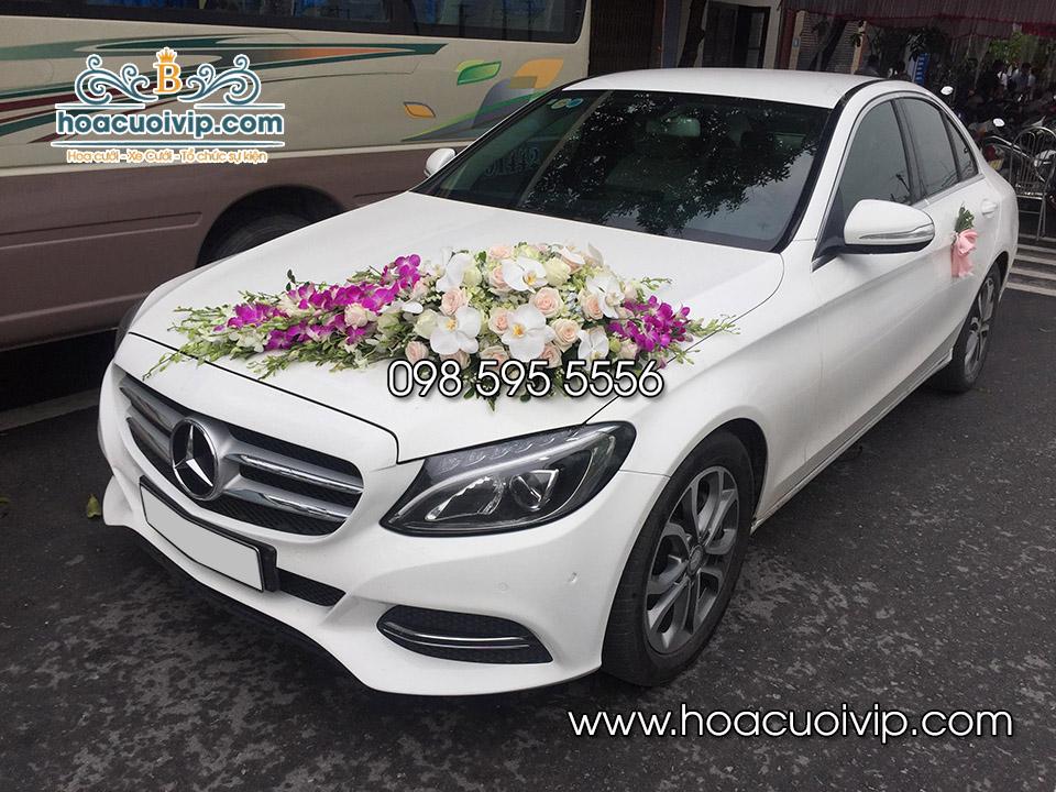 thuê xe cưới mercedes C250 trắng 2018
