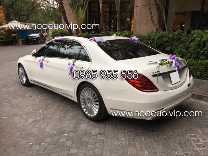 thuê xe cưới mercedes S500 trắng