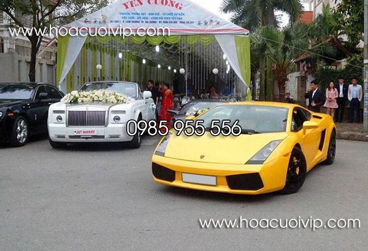 thuê xe cưới siêu xe lamborghini