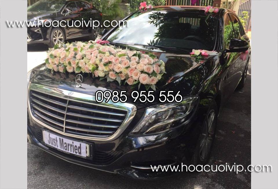 thuê xe cưới mercedes S500 đen
