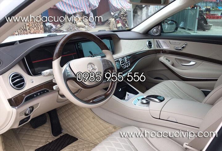 thuê xe cưới mercedes s400 trắng