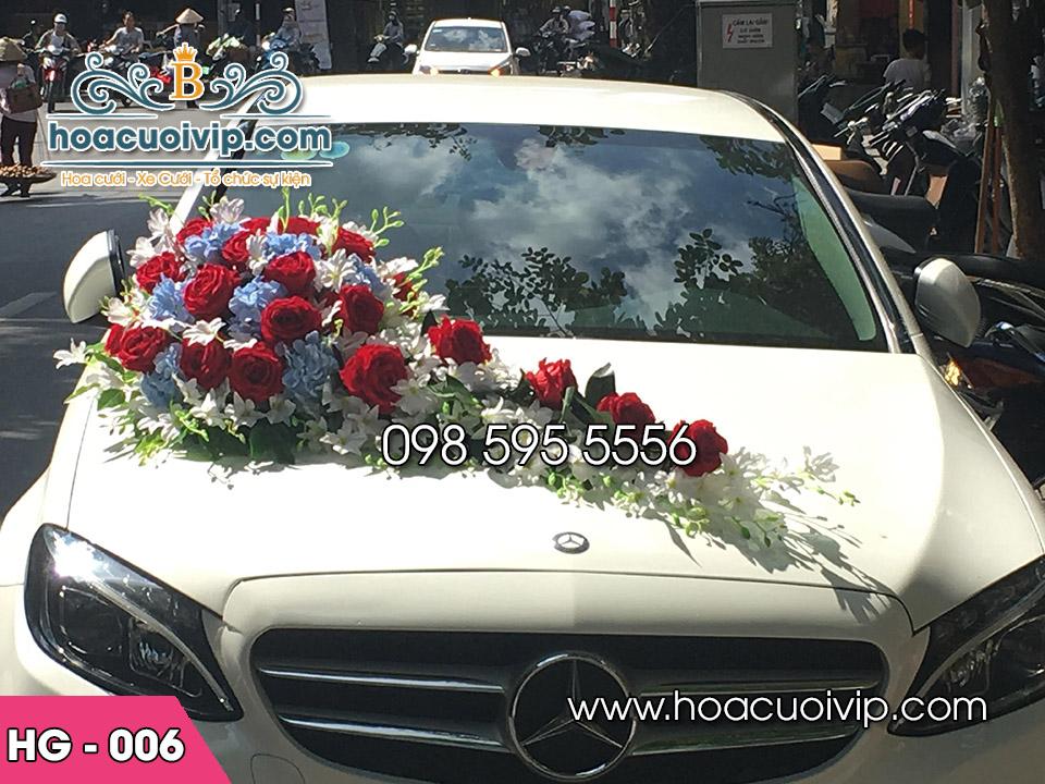 hoa giả trang trí xe hoa