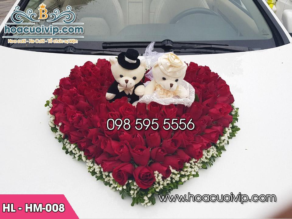 hoa giả xe cưới
