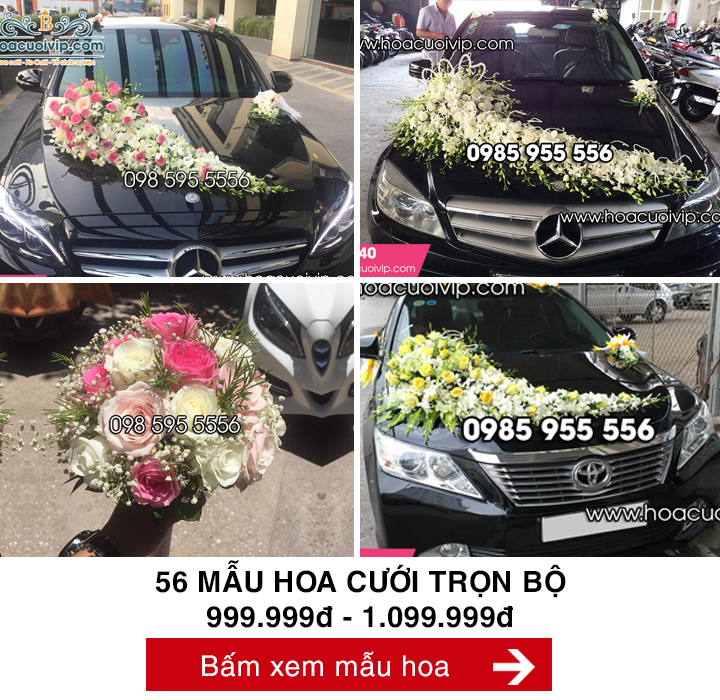 hoa cưới trọn bộ 999k