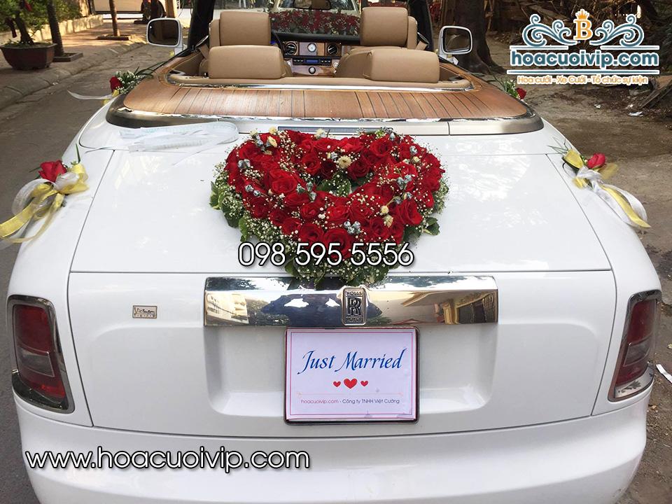 hoa cưới vip trang trí siêu xe rolls royce