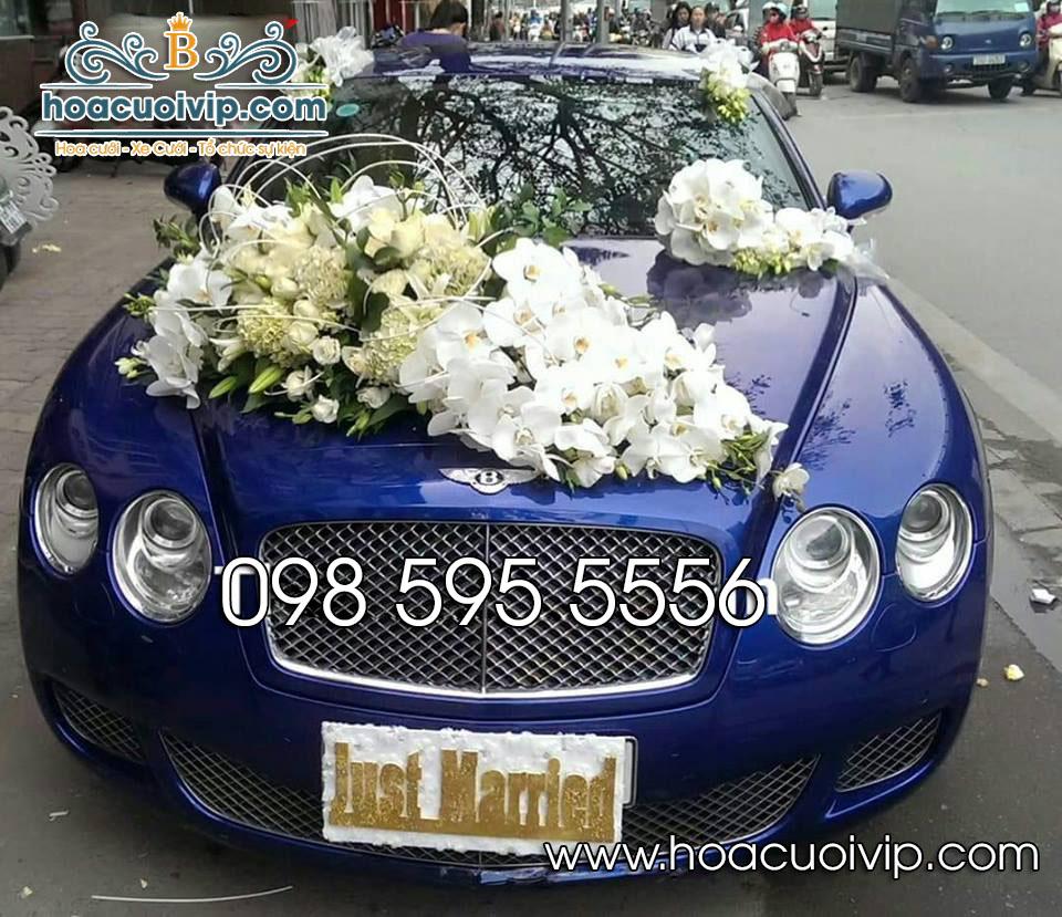 hoa cưới vip trang trí siêu xe bentley