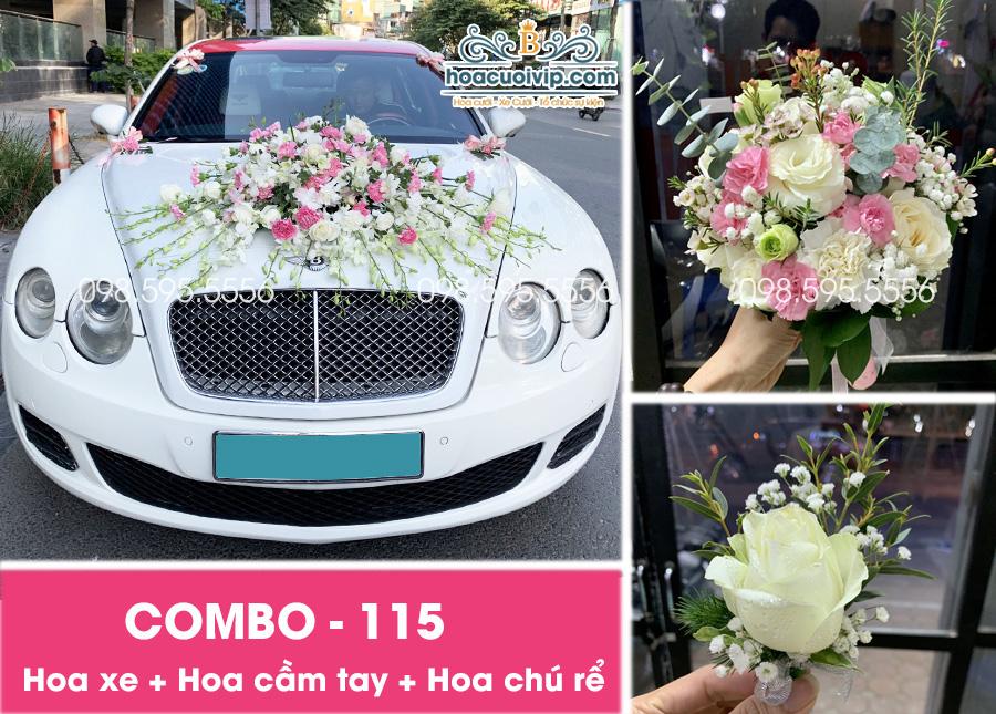 Combo Hoa trang trí xe cưới đẹp