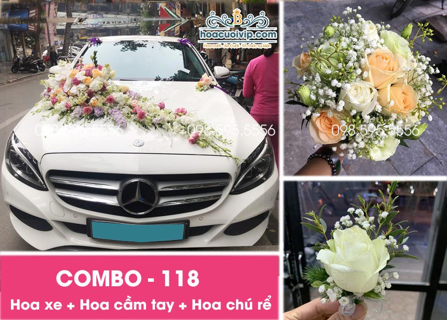 Hoa xe cưới đẹp combo-118