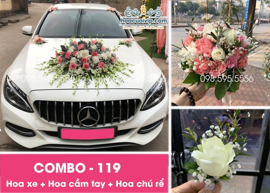 Hoa xe cưới đẹp combo-119
