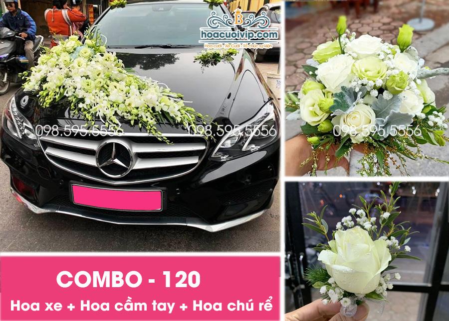Hoa xe cưới đẹp combo-120