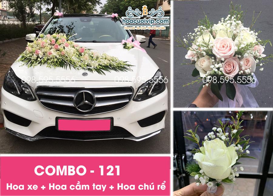 Hoa xe cưới đẹp combo-121