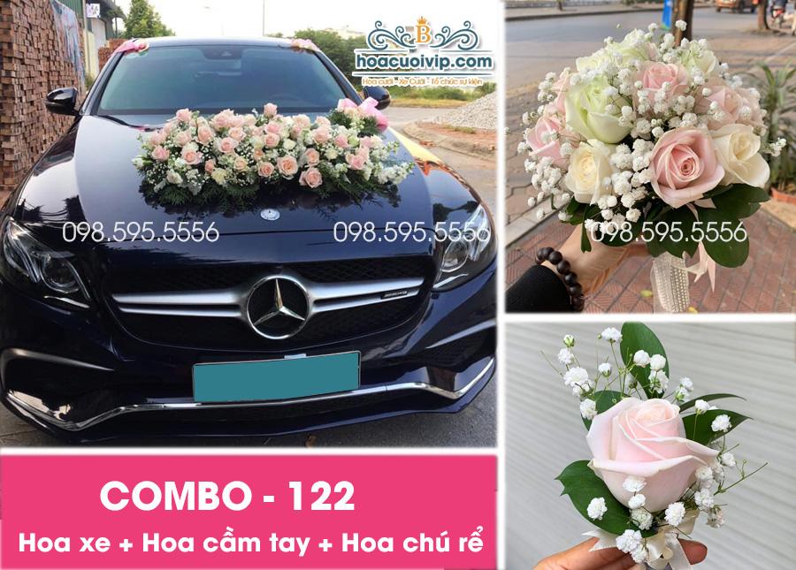 Hoa xe cưới đẹp combo-122