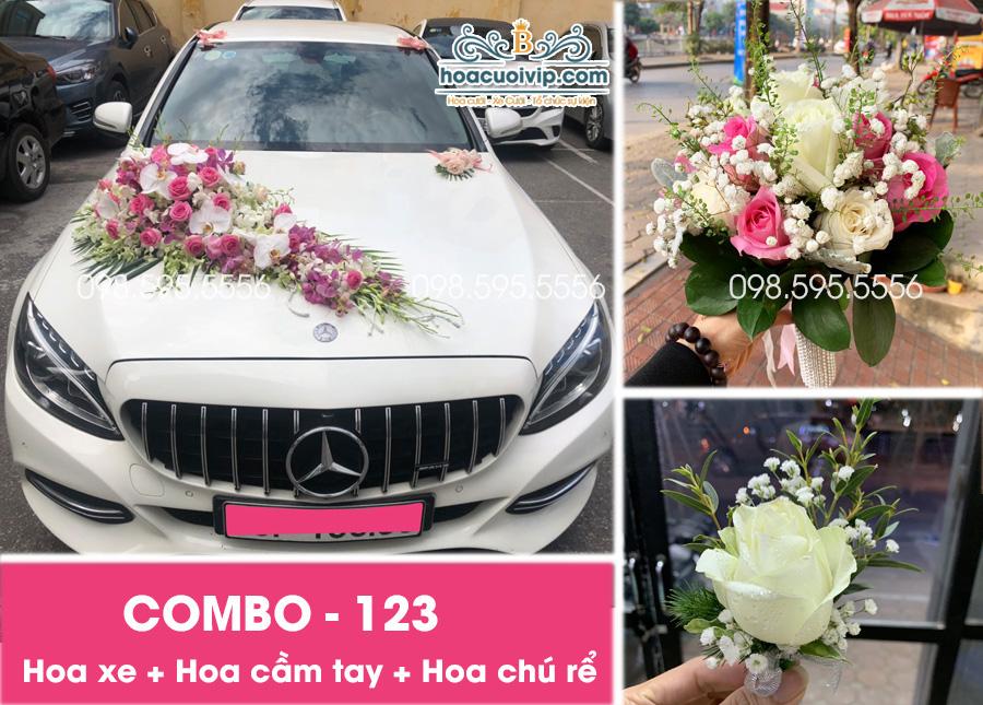 Hoa xe cưới đẹp combo-123